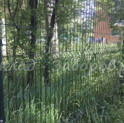 Забор из 3D-сетки-2