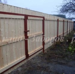 Забор из дерева-4