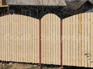 Деревянный забор-4