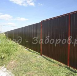 Ворота с калиткой профлиста-16