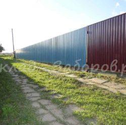 Забор из профлиста-12
