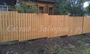 Деревянный забор-3