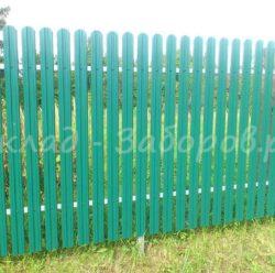 Забор из евроштакетника-2