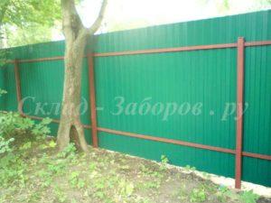 Забор из профлиста-5
