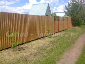Забор из профлиста-2