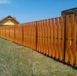 Забор из дерева-6