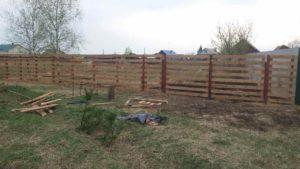 Забор из дерева-9