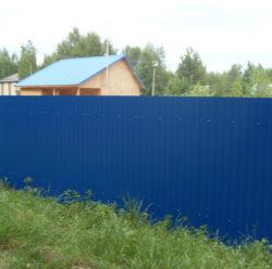 Забор из профнастила-2