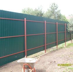 Забор из профнастила-3