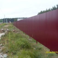 Забор из профнастила-4