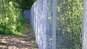 Забор из сетки-рабица-4