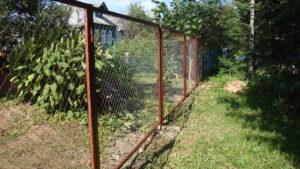 Забор из сетки-рабицы в секциях-3