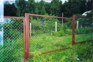 Забор из сетки-рабицы в секциях-2