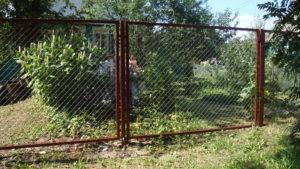 Забор из сетки-рабицы в секциях-5