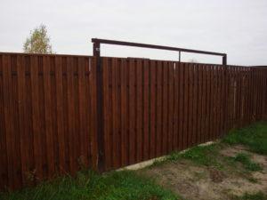 Забор из евроштакетника-10