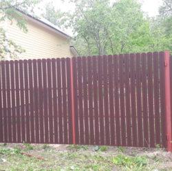 Забор из евроштакетника-11