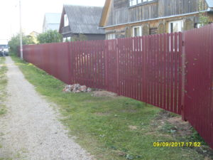 Забор из евроштакетника-4