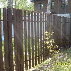 Забор из евроштакетника-5
