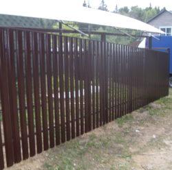 Забор из евроштакетника-6