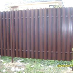 Забор из евроштакетника-9